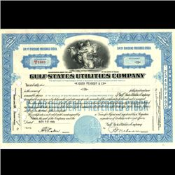 1950s Gulf States Util Stock Cert Angel Style (COI-3330)