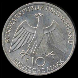 1972F Germany Silver 10 Mark MS65 (COI-8549)