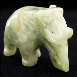 Chinese Handcarved Vintage Jade Elephant (ANT-1906)