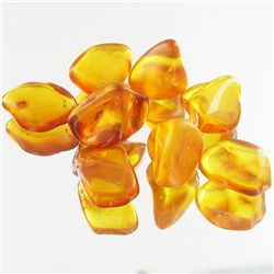 10.08ct Natural Baltic Amber Freeform Cabochon Parcel (GEM-34939)