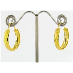 "22k Gold Vermeil Earrings 3/4"" (JEW-1601)"