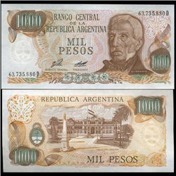 1980 Argentina 1000 Peso Note Crisp Uncirculated (CUR-05557)