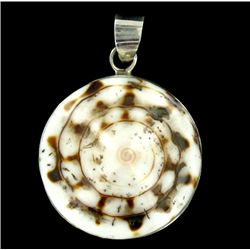 Sterling Shell Round Pendant (JEW-2024)