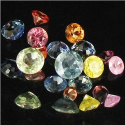 1ct Mixed Color Sapphire Round Cut Parcel (GEM-37847)