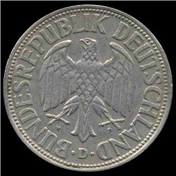 1961D Germany 1 Mark Hi Grade RARE (COI-8151)