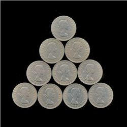1959 GB RARE Scottish Reverse Shilling XF/AU 10pcs (COI-8885)