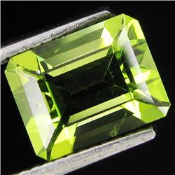2ct Top Peridot Emerald Cut (GMR-1093B)