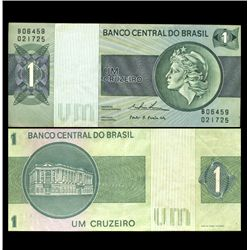 1975 Brazil 1 Cruzeiro Crisp Uncirculated Note (CUR-05918)
