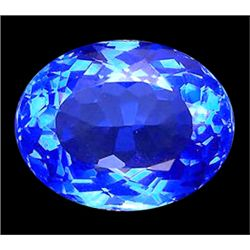 11.25ct Oval Cut Top Mystic Blue Quartz FLAWLESS (GEM-9904)