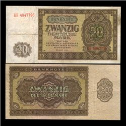 1964 E. Germany 5 Mark Crisp Circulated Note (CUR-05864)