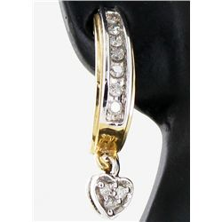 15.6twc Diamond 10k Gold Earrings (JEW-3391)