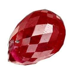 2.61ct Fabulous Briolette Top Blood Red Ruby (GEM-17631)