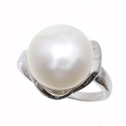 White Saltwater Pearl & Sterling Ring (JEW-154)