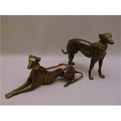 A STANDING GREYHOUND FIGURE
