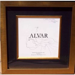 Alvar, Sunol - Original Drawing hand signed