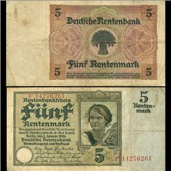 1926 Germany 5 Mark Better Circulated (CUR-05854)