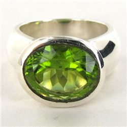 70.24twc Peridot Sterling Ring (JEW-2821)