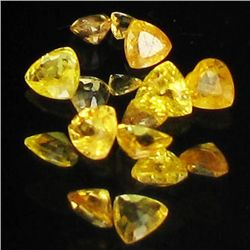 1ct Yellow Sapphire Trillion Parcel (GEM-40989)