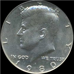 1980 Kennedy Half 50c Coin Graded GEM (COI-6910)