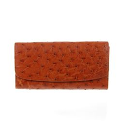 Ladies Ostrich Hide Skin Wallet  (ACT-052)