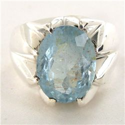 67.87twc Aquamarine Sterling Ring (JEW-2799)