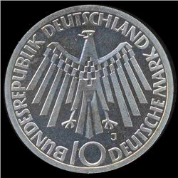 1972J Germany Silver 10 Mark PR68 DCAM (COI-8548)