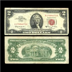 1963 $2 Silver Certificate Nice Condition SCARCE (COI-4716)