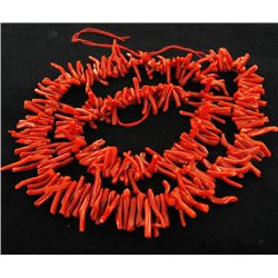 125twc Sicilian Natural Red Coral Strand (JEW-3458)
