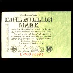 1923 Germany 1m Mark Note Hi Grade (COI-3981)