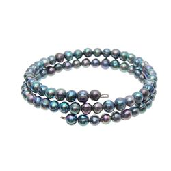 Saltwater Small Black Pearl Bracelet  (JEW-267)