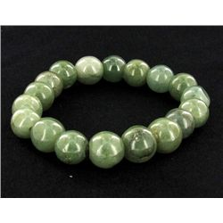 200ct Green Jade Bead Bracelet (JEW-2206)