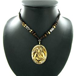 Tibet Bone Nickel Pendant Choker Necklace (ANT-1321)