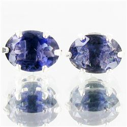 4.59twc Iolite Sterling Earrings (JEW-2644)
