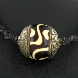 Tibet Big Agate Bead Choker Necklace (JEW-3293)