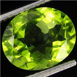 4ct Top Peridot Oval Cut (GMR-1095C)