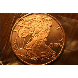 "1 oz .999 Pure Copper Round ""Seated Liberty"""