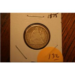 1875 Seated Dime