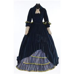 Mary Pickford blue velvet period dress, hat and shoes designed by Adrian from Secrets