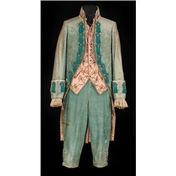 Leslie Howard teal velvet period outfit designed by William Lambert from Berkeley Square