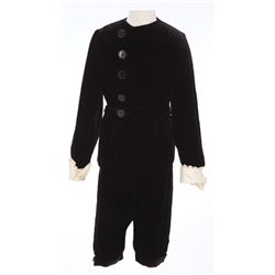 Freddie Bartholomew 2-piece black velvet outfit designed by Sophie Wachner - Little Lord Fauntleroy