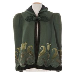 Katharine Hepburn green cape designed by Walter Plunkett from A Woman Rebels