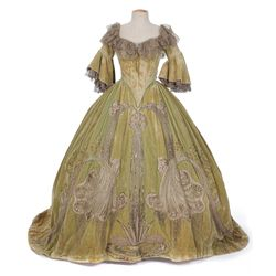 Helen Millard green velvet period gown designed by Adrian from Marie Antoinette
