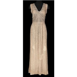 Ethel Merman ivory chiffon beaded gown designed by Gwen Wakeling from Alexander's Ragtime Band