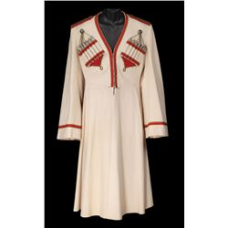 "Nelson Eddy ""Prince Peter Karagin"" ivory Cossack coat designed by Valles from Balalaika"