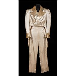 "Al Jolson ""Edwin P. Christy"" ivory tailcoat and pants designed by Royer from Swanee River"