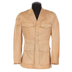 """Robert Taylor """"Ensign Alan Drake"""" tan military jacket designed by Gile Steele from Flight Command"""