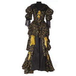 """Gene Tierney """"Barbara Hall"""" black and yellow period gown designed by Travis Banton from Hudson's Bay"""