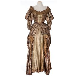 """Virginia Field """"Nell Gwyn"""" gold period gown designed by Travis Banton from Hudson's Bay"""