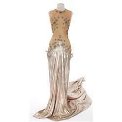"""Eve Arden """"Patsy Dixon"""" gold lamé show costume designed by Adrian from Ziegfeld Girl"""