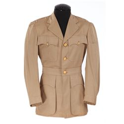 """Walter Brennan """"Chief Yeoman Henry Johnson"""" tan military jacket from Stand By for Action"""